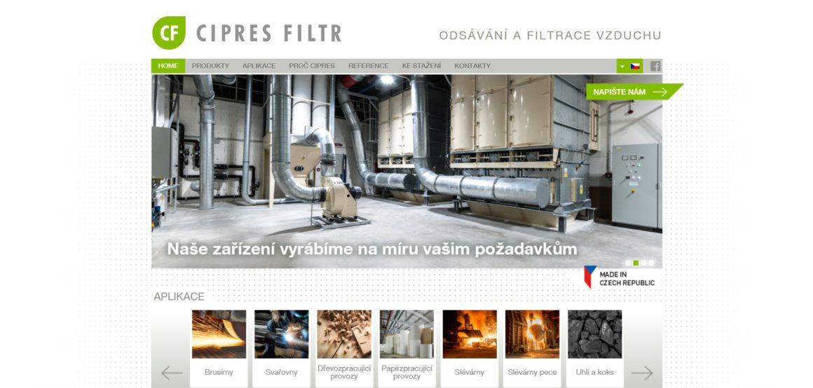 CIPRES – filtrace vzduchu