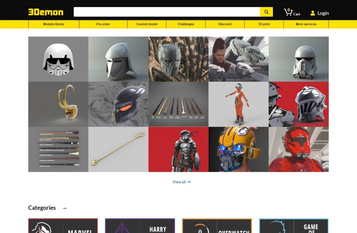 E-shop s3D modely