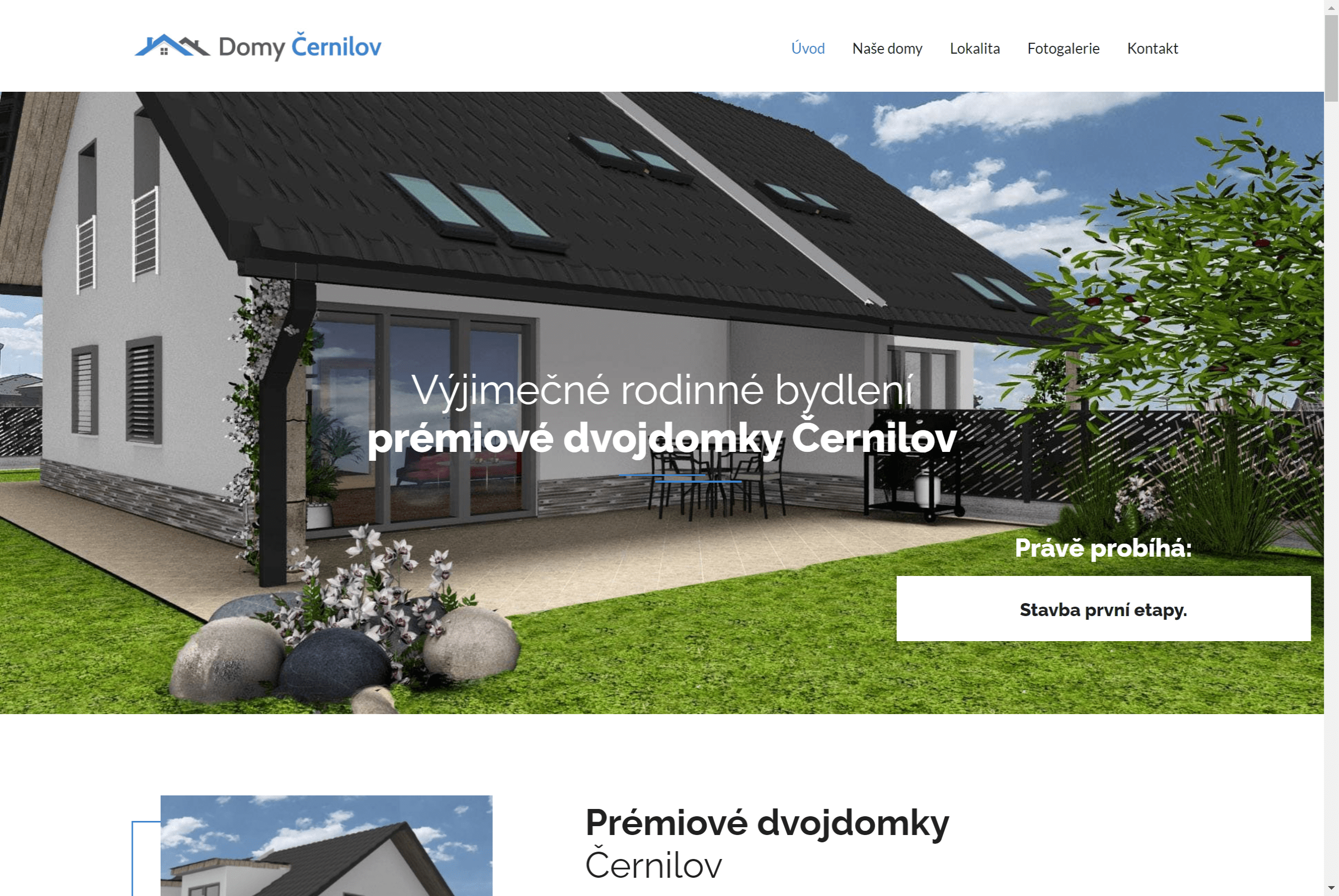 Domy Černilov – developerský projekt