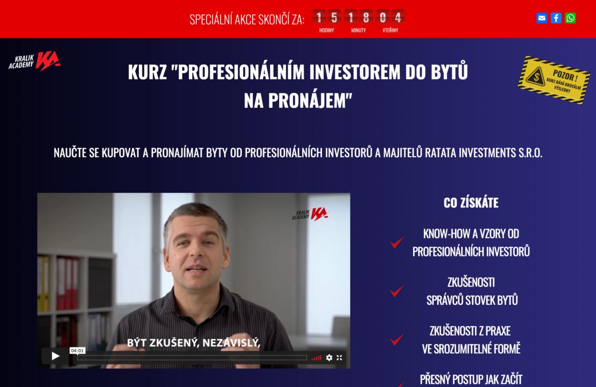Králík Academy – kurz investice